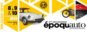 Salon Epoqu'Auto 2019, stand du Carf les 8/9/10 novembre @ Lyon Eurexpo